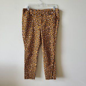 Old Navy Pixie Ankle Pants Size 10  Leopard Print